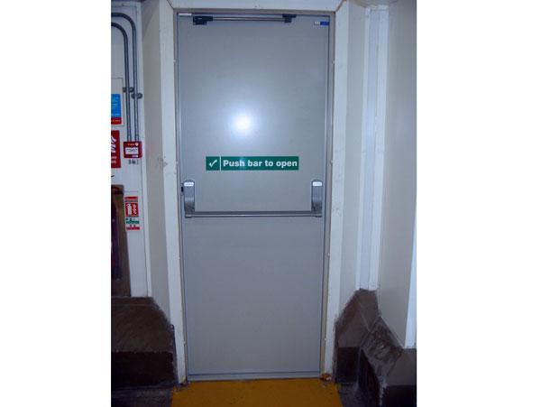Fire Exit Door : Arindam bhadra fire safety