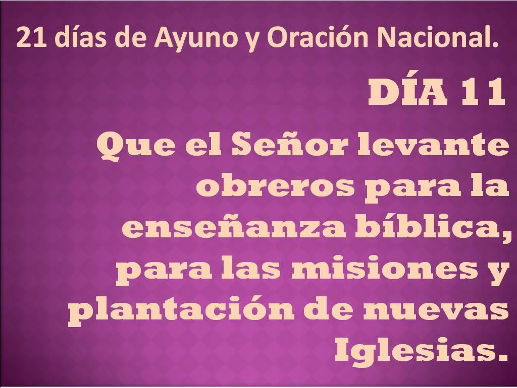 Oración del día 11.