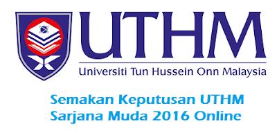 Semakan Keputusan UTHM Online