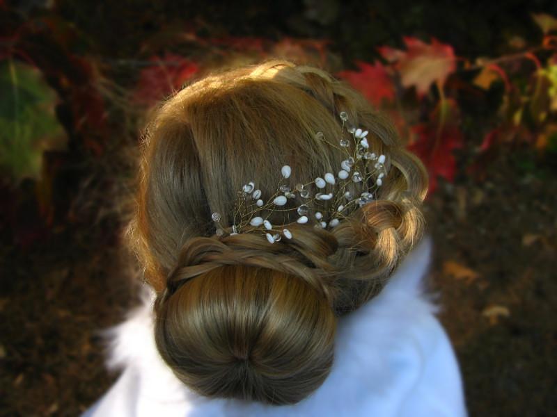 Stroik ślubny do włosów