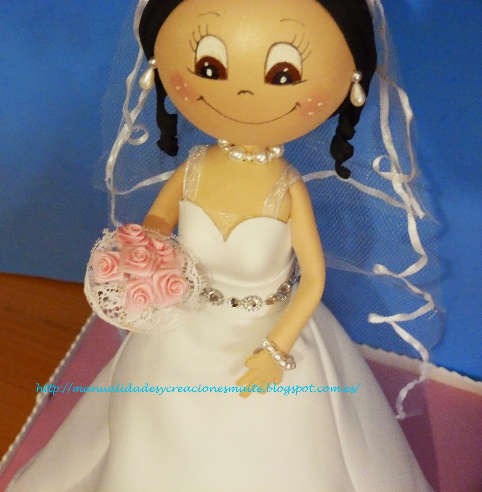 Como hacer vestido de novia para fofucha