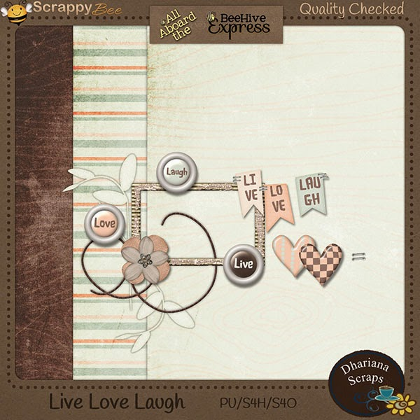 Free scrapbook august blog train from Dhariana Scraps
