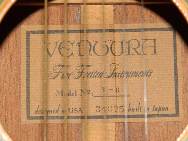 Ventura Acoustic Guitar Serial Numbers