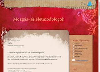 Blogverseny mozgásblogoknak