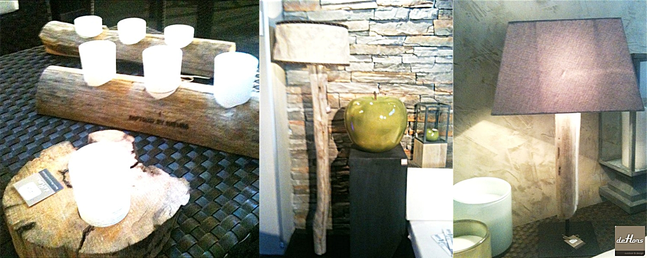 Dehors design lampes bois flott de baptized by nature for Lampe dehors