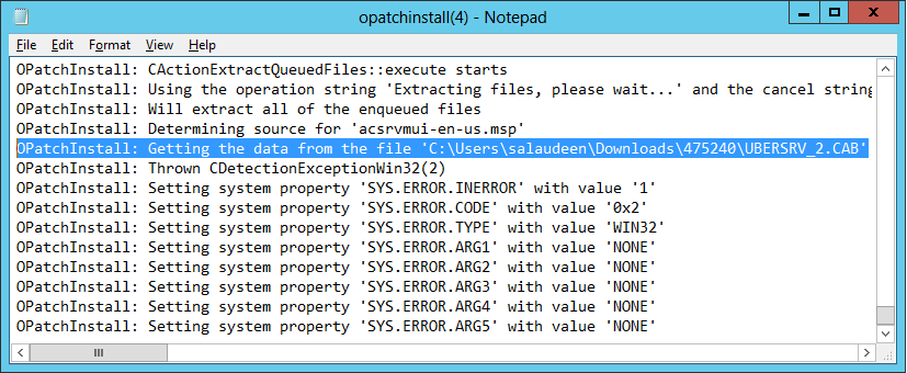 the installation of this package failed sharepoint foundation 2013
