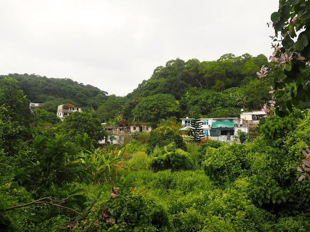 Houses in the natural wilderness of Lamma Island, Hong Kong