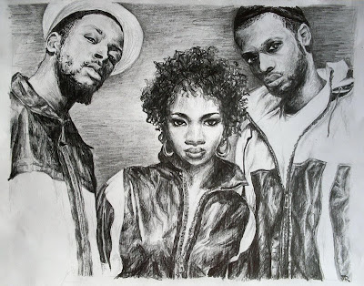 rapper illustration - fugees group rappers wallpapers