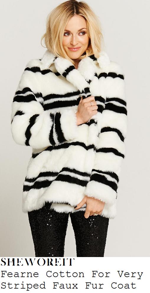 fearne-cotton-white-cream-and-black-stripe-panel-faux-fur-coat