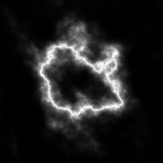 Lightning Created with Radial Gradient