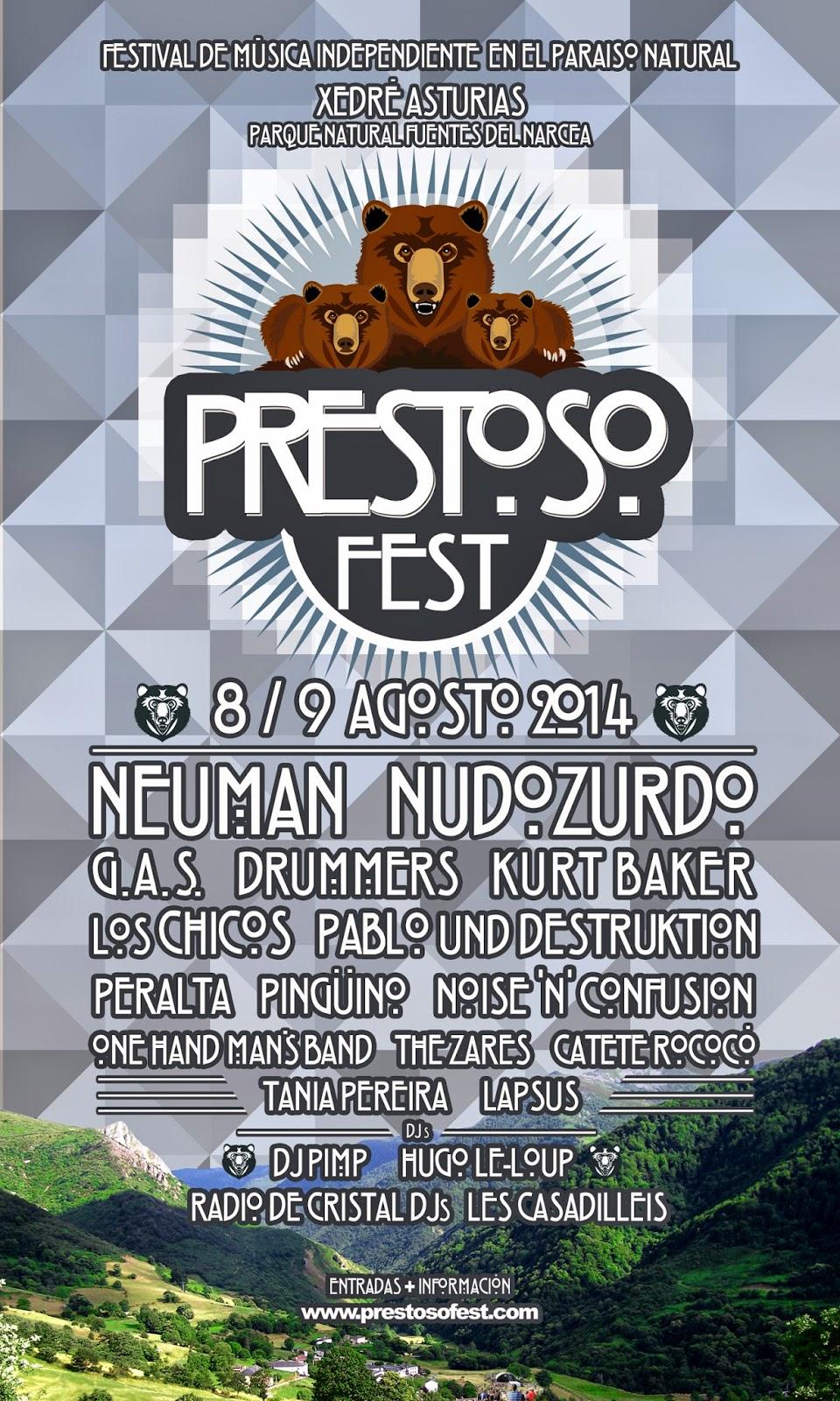 Prestoso Fest 2014 Cartel completo