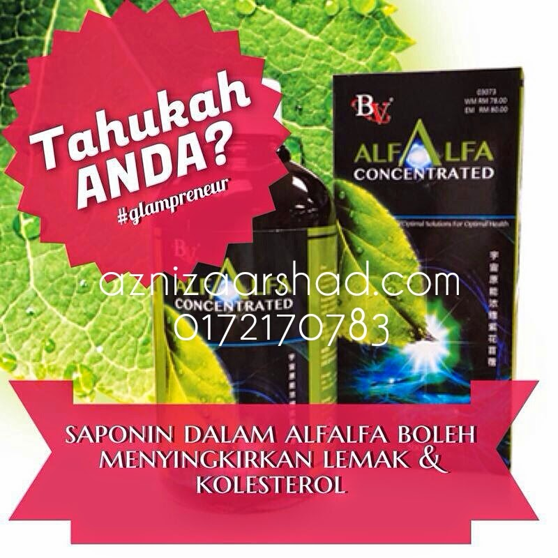 Azniza Arshad, Bio Velocity Alfalfa Concentrated, Supplement, Kesihatan, Dynamic Leaders Group, Authenticircle, Glampreneurs, Alfalfa, Minda Kaya, Jana Pendapatan, Extra Income, Side Income, Kaya Raya, Hanis Haizi, Premium Beautiful Agent, Borong Mineral Coffee