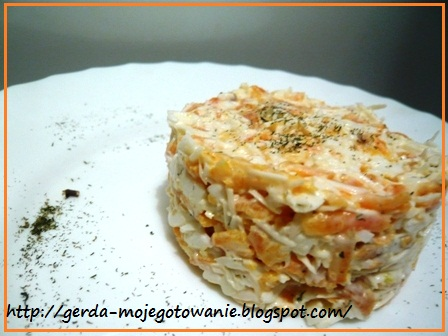 Салат Морковка с сыром