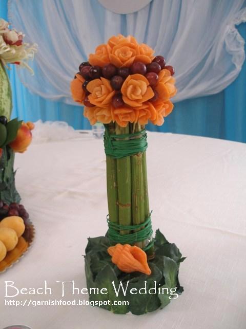 beach theme wedding fruit buffet