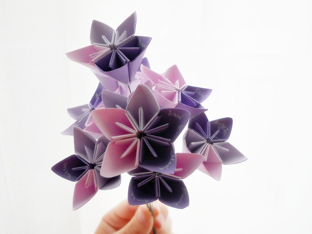 How to make an poinsettia origami amcordesign us - Bubulinaaa Origami Flower Bouquet Instructions