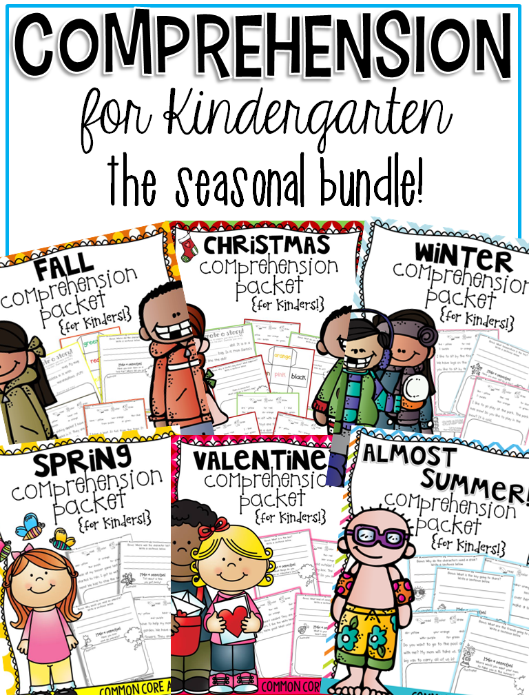 http://www.teacherspayteachers.com/Product/Comprehension-for-Kindergarten-The-Seasonal-BUNDLE-1330262