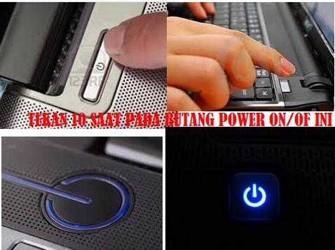 Cara tutup komputer apabila komputer atau laptop anda tiba tiba jem, sangkut (hang)