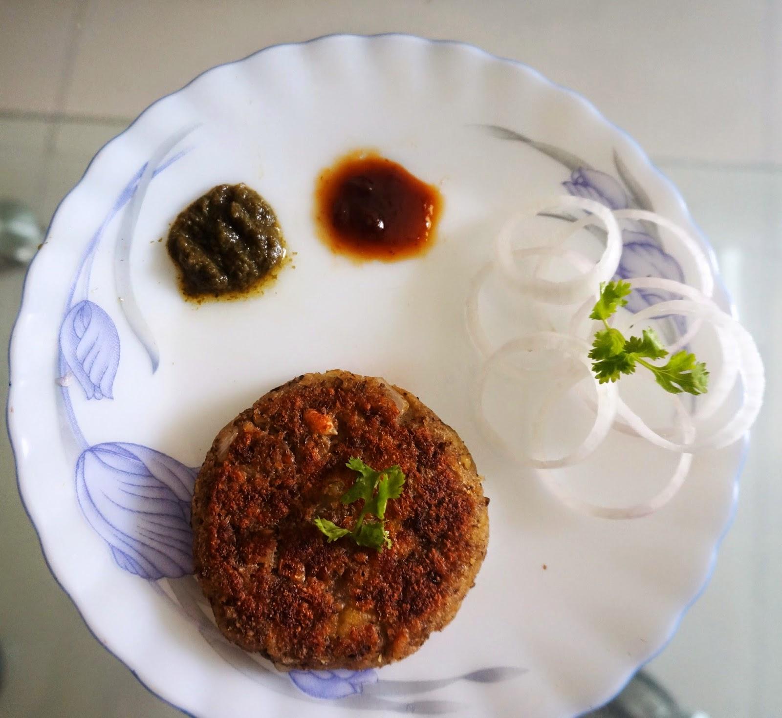 Sprouts Tikki stuffed with potato (Aloo)