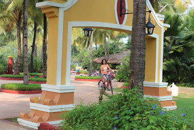 Cycling at Taj Exotica Goa