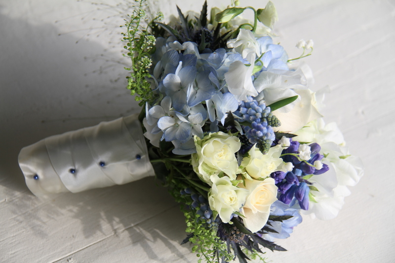 The flower magician beautiful blue wedding bouquet beautiful blue wedding bouquet junglespirit Images