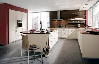 contemporary cream kitchen cabinets picture