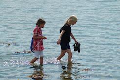 children by beach, Kaloe