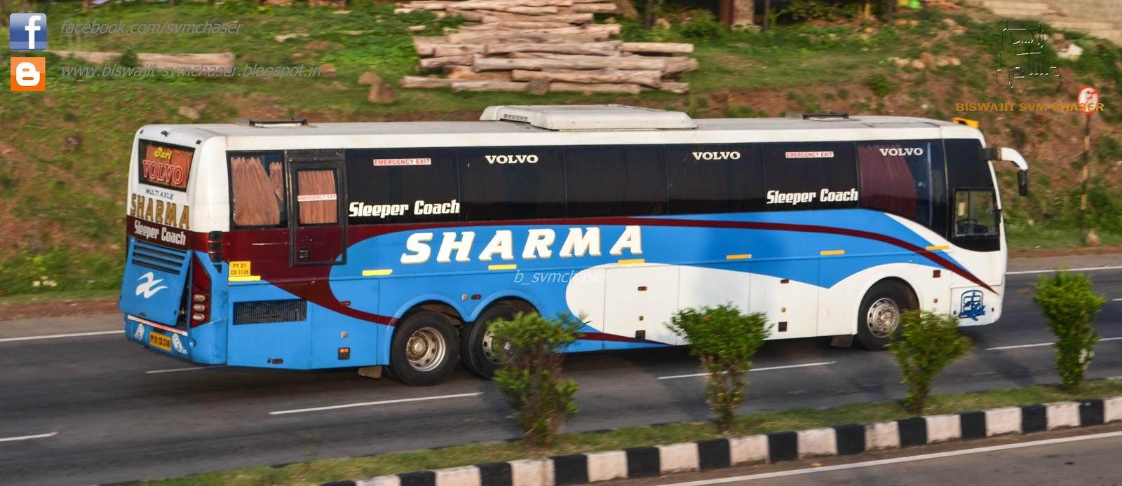 Sharma Transports VOLVO B9R Multiaxle Sleeper PY01 CD 3749 | Biswajit SVM Chaser