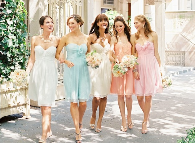 Raining blossoms bridesmaid dresses different colors for for Different colored wedding dresses