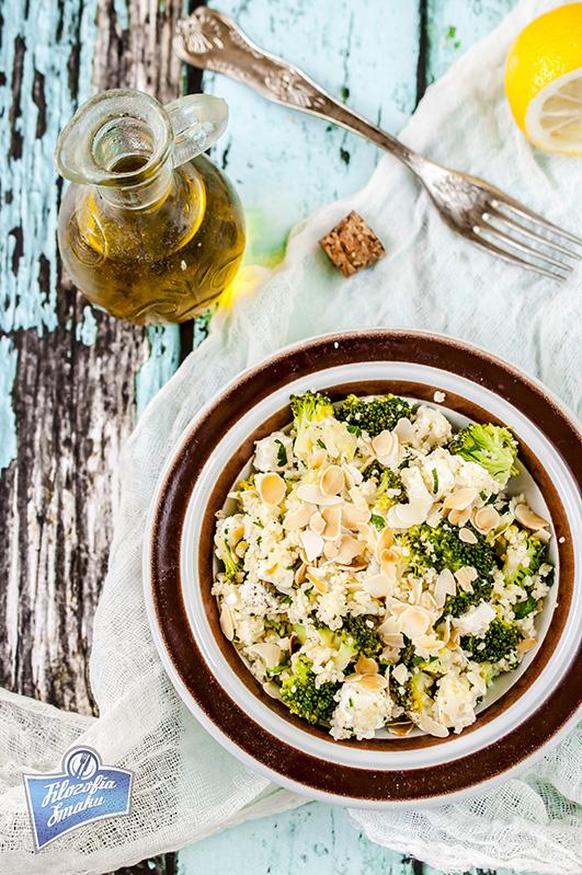 Sałatka z kaszą i brokułem