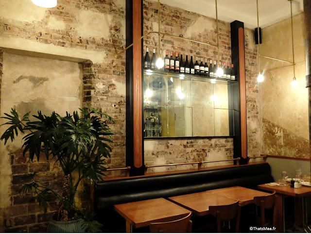 bar vin déco vintage années 50 et industrielle du Centreville, Restaurant à Paris 11ème  charonne Keller