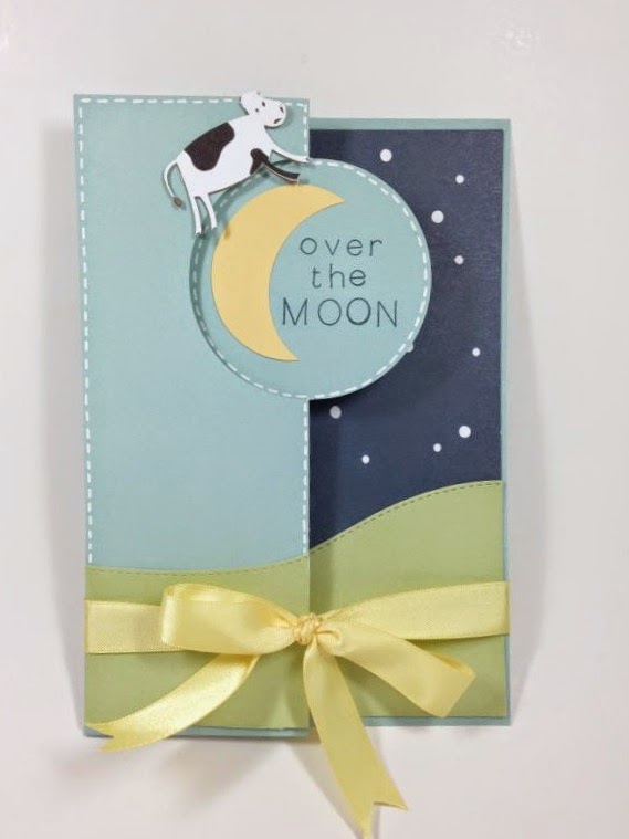 Close To My Heart Artfully Sent Cricut cartridge Over the Moon card