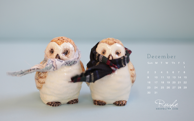 calendars, owls, ruche, decemeber, 2012, when regarding ruffles
