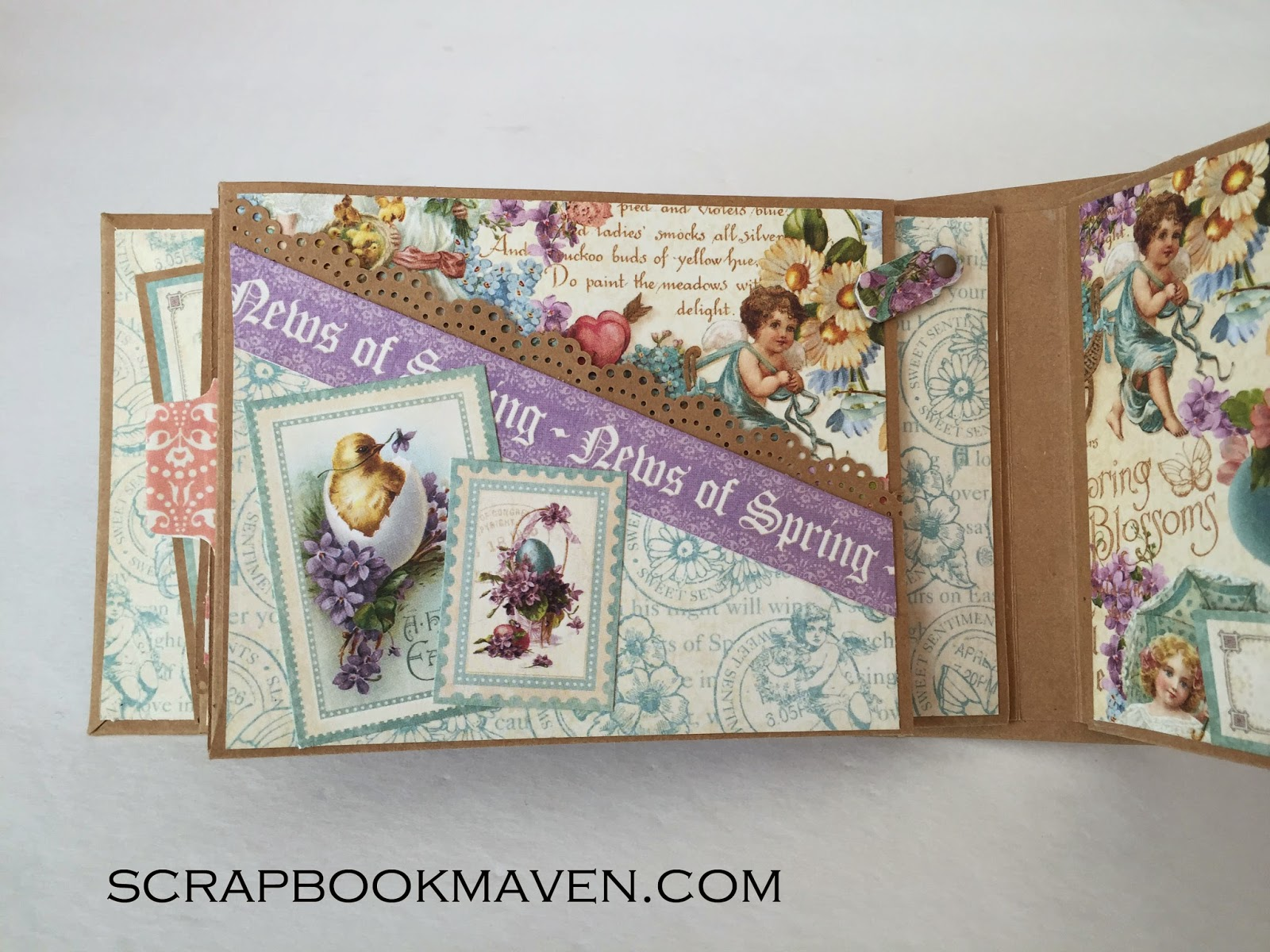 Spring Easter Valentine's Mini Album using Graphic 45's Sweet Sentiments