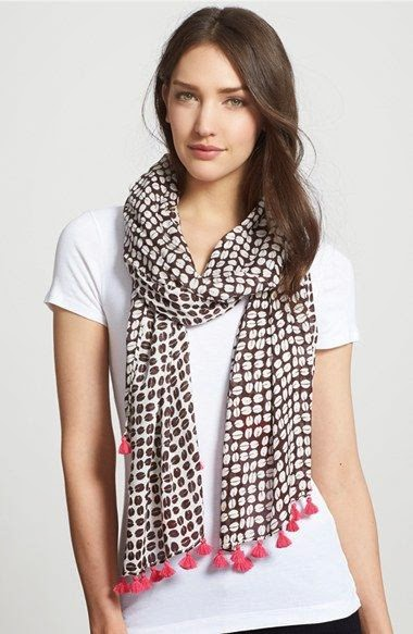 See more This cute scarf‼️ kate spade new york 'coffee bean' scarf available at Nordstrom