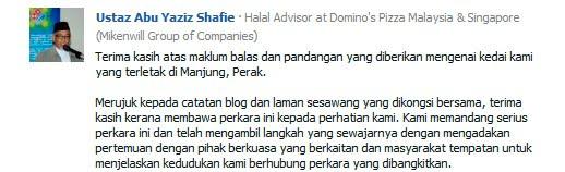 Penjelasan Penasihat Halal Domino's Pizza Mengenai Isu Domino's Pizza Berbumbung Salib
