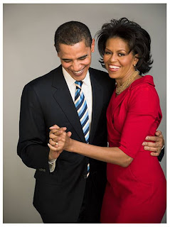 Barak Obama with wife