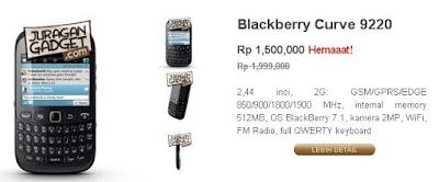 Harga Blackberry Curve 9220