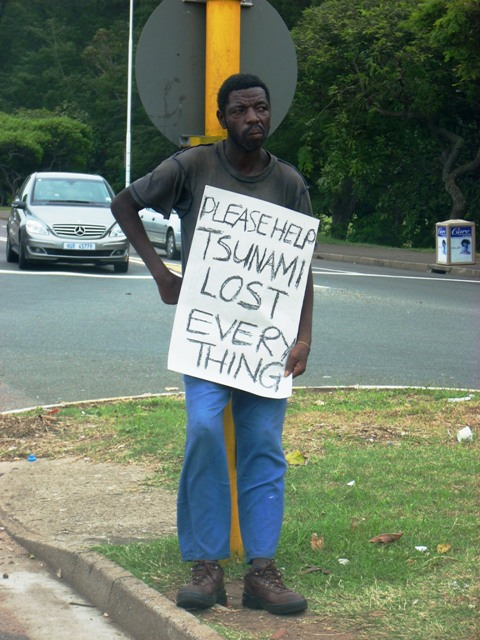 homeless guy tsunami