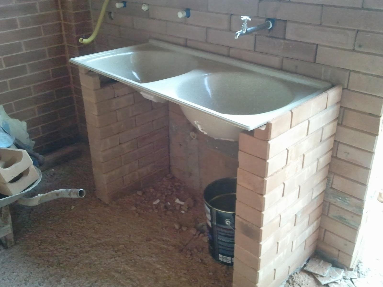 Construindo e Ampliando com Tijolo Solocimento  Ecológico Assentamento de  -> Como Fazer Pia De Banheiro De Tijolo