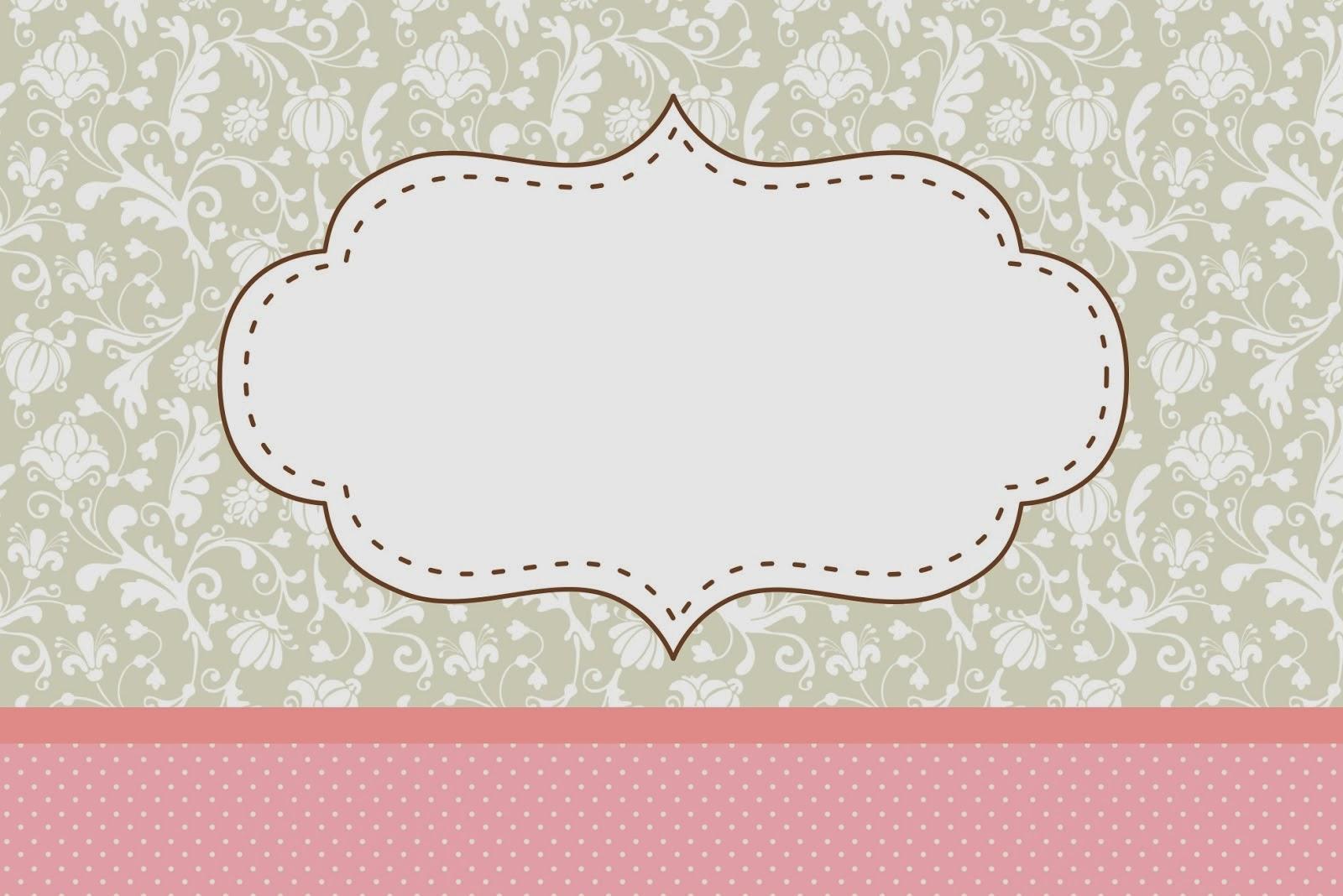 Provenzal en rosa y gris invitaciones para imprimir for Formas de letras para cumpleanos