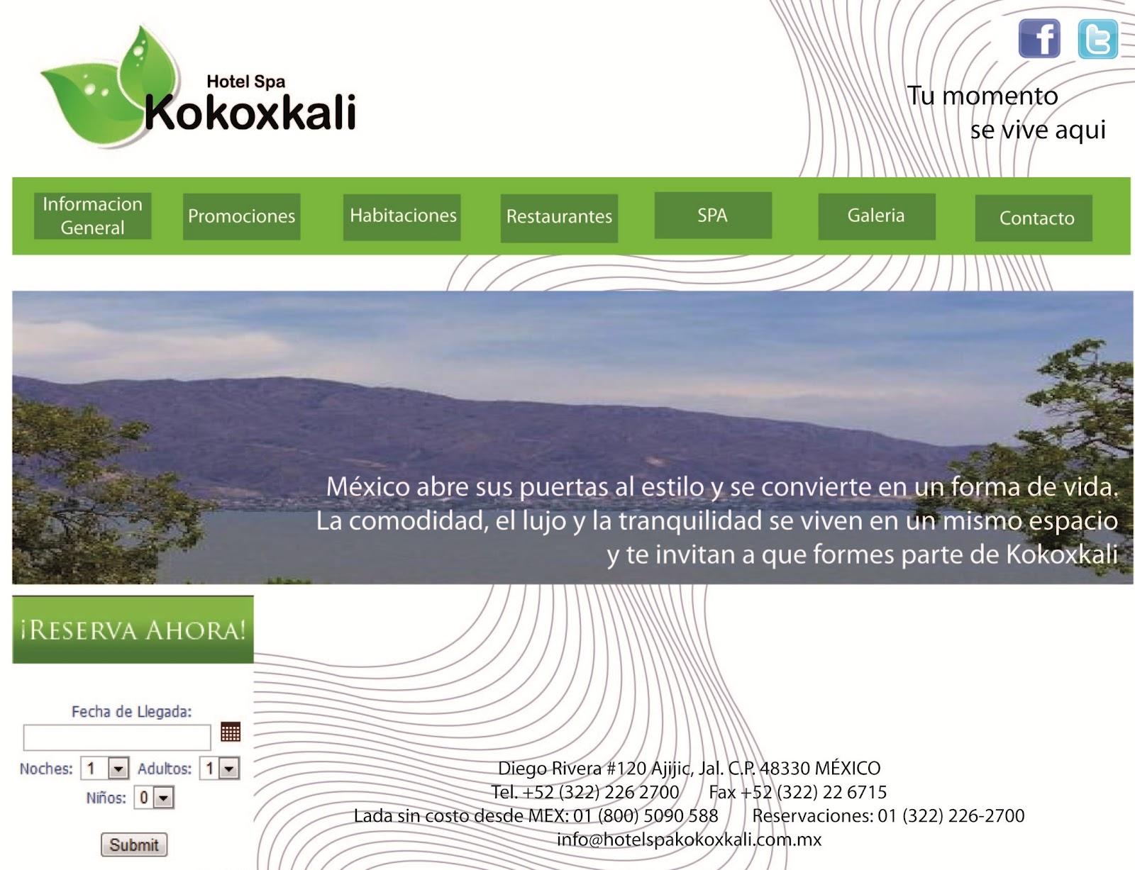 Liiz: Plantilla Web. Hotel Kokoxcali