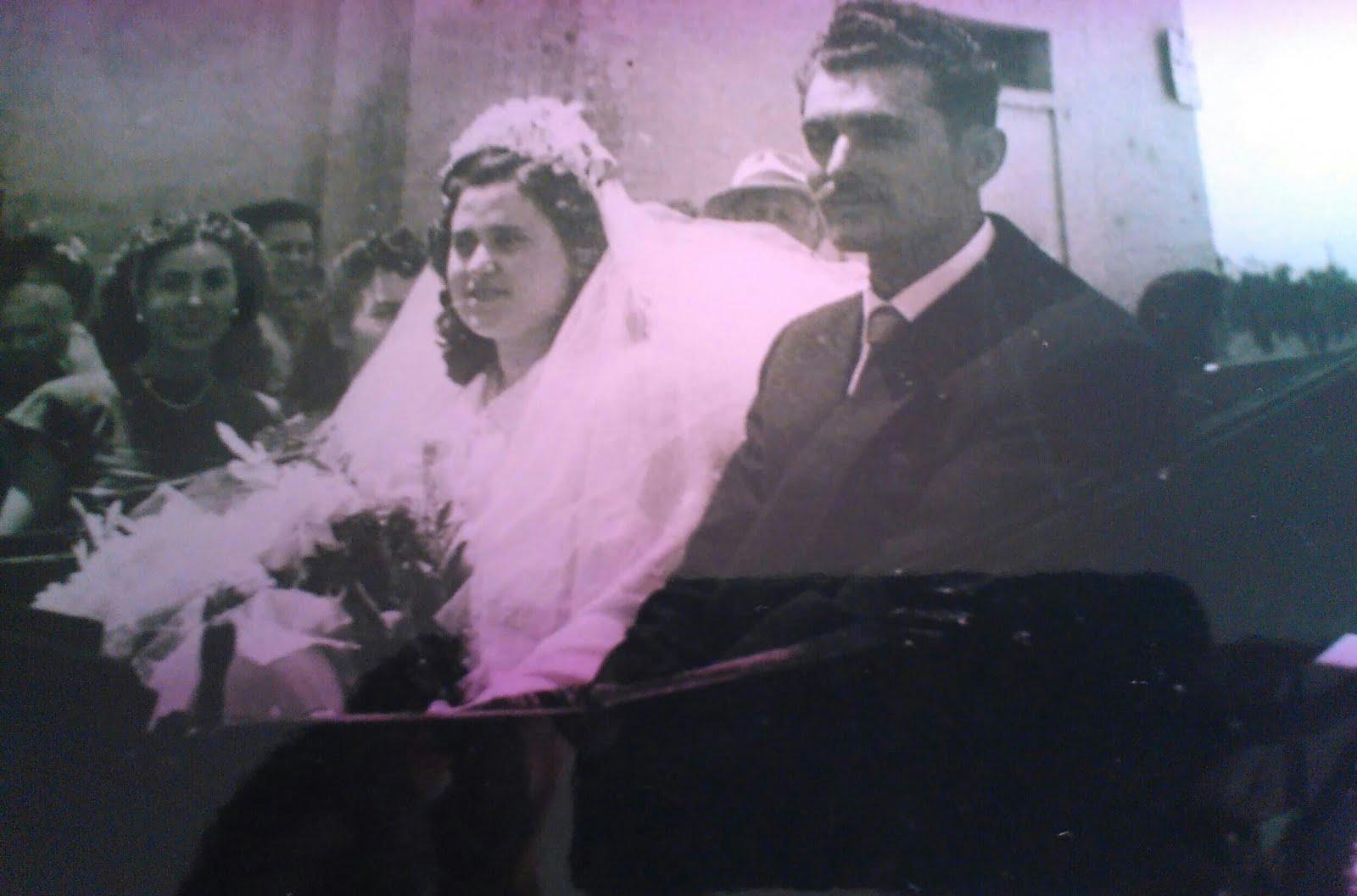I miei genitori il giorno delle nozze