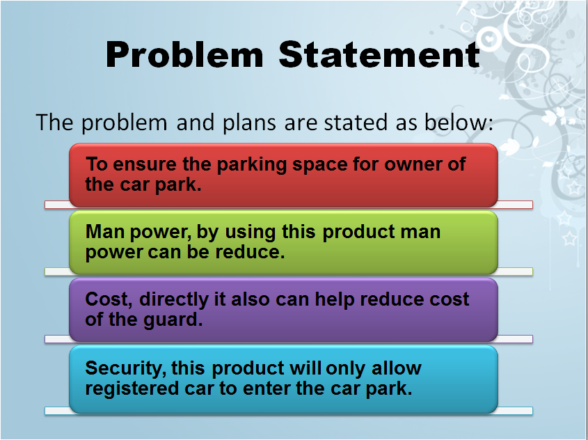 problem statement a new product 2 write a problem statement gather your research and use it to create a problem statement describe ways that you will know (or measure) when you have solved the.