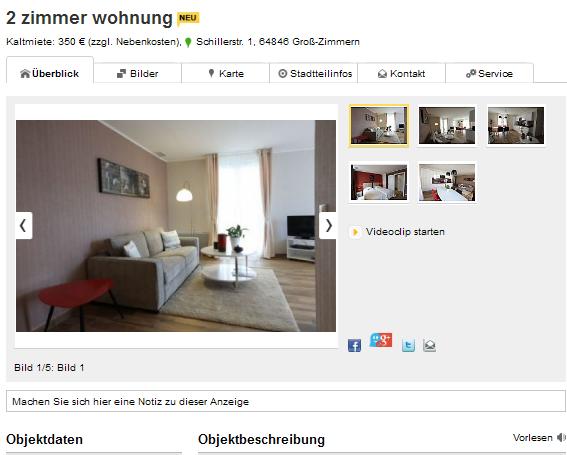 Wohnung Gro Ef Bf Bd Zimmern