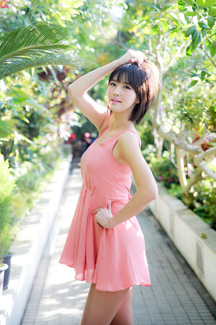 5 Choi Byeol Ha in Pink -Very cute asian girl - girlcute4u.blogspot.com