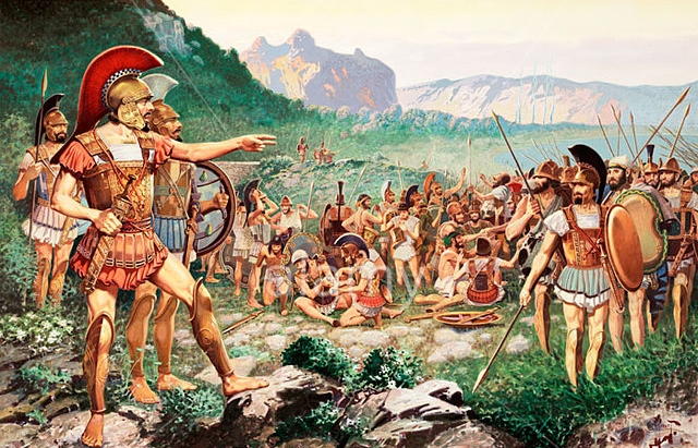pics for gt battle of thermopylae painting