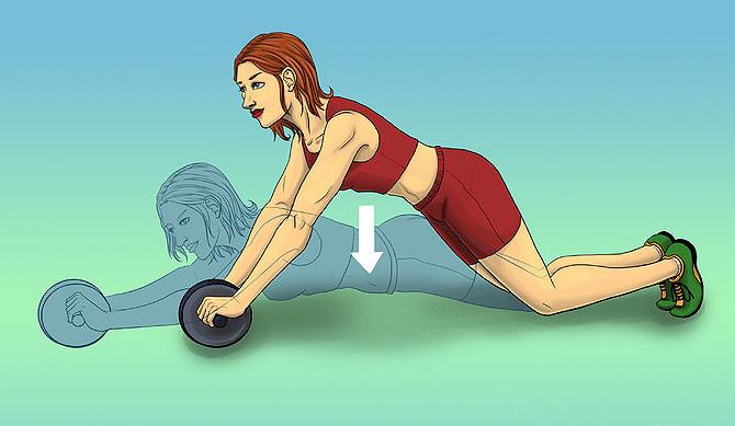 Do an ab roller exercise