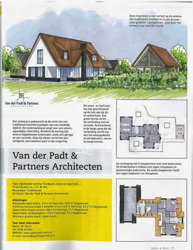 Kavel huis 5 architecten schetsen special van der for Kavel en huis magazine