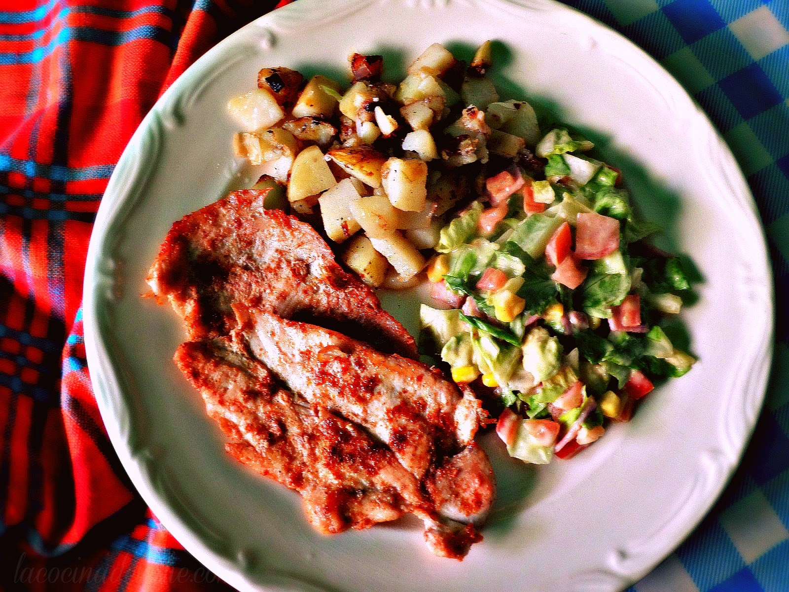 Pollo a la plancha con papas sancochadas - lacocinadeleslie.com