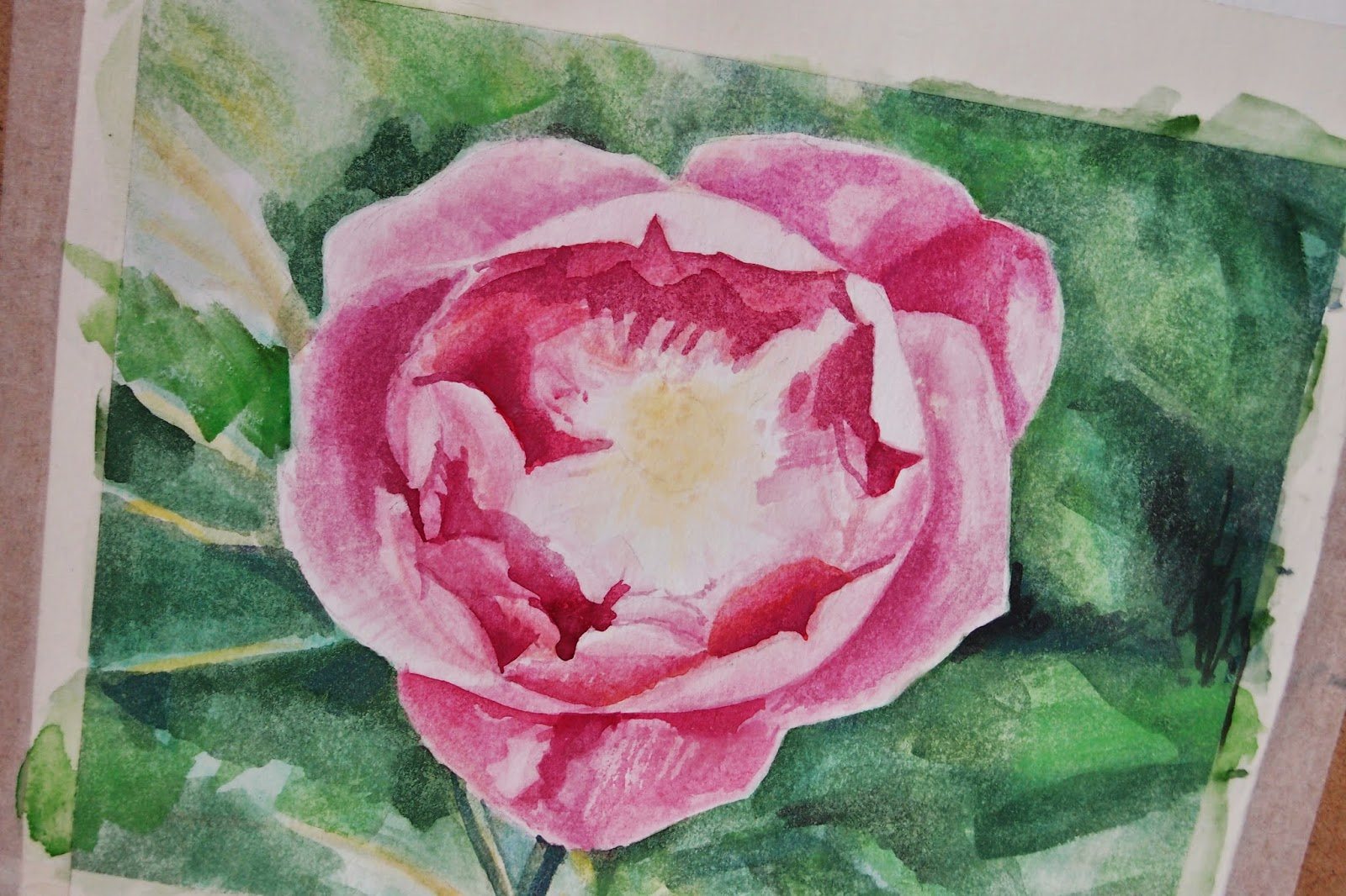 playing with watercolours